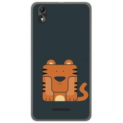 Funda Gel Tpu para Wiko Lenny4 Plus Diseño Tigre Dibujos