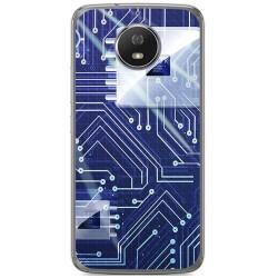 Funda Gel Tpu para Motorola Moto G5S Diseño Circuito Dibujos