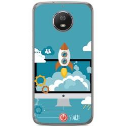 Funda Gel Tpu para Motorola Moto G5S Diseño Cohete Dibujos