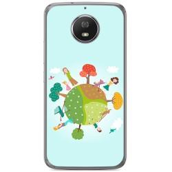 Funda Gel Tpu para Motorola Moto G5S Diseño Familia Dibujos