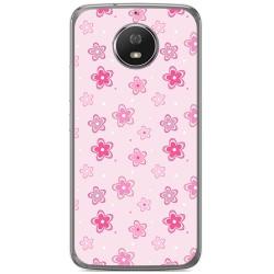 Funda Gel Tpu para Motorola Moto G5S Diseño Flores Dibujos