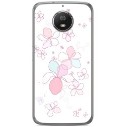 Funda Gel Tpu para Motorola Moto G5S Diseño Flores Minimal Dibujos