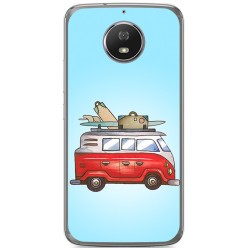 Funda Gel Tpu para Motorola Moto G5S Diseño Furgoneta Dibujos