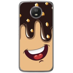 Funda Gel Tpu para Motorola Moto G5S Diseño Helado Chocolate Dibujos