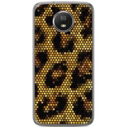 Funda Gel Tpu para Motorola Moto G5S Diseño Leopardo Dibujos