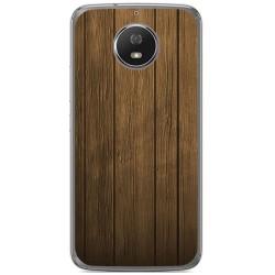 Funda Gel Tpu para Motorola Moto G5S Diseño Madera Dibujos
