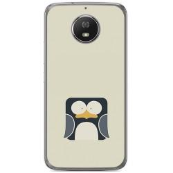 Funda Gel Tpu para Motorola Moto G5S Diseño Pingüino Dibujos