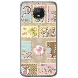 Funda Gel Tpu para Motorola Moto G5S Diseño Sellos Dibujos