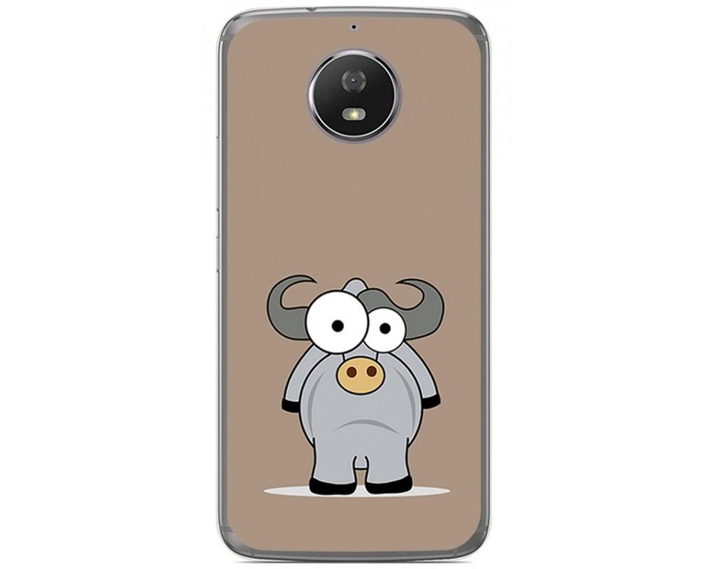 Funda Gel Tpu para Motorola Moto G5S Diseño Toro Dibujos