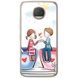 Funda Gel Tpu para Motorola Moto G5S Plus Diseño Cafe Dibujos