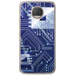 Funda Gel Tpu para Motorola Moto G5S Plus Diseño Circuito Dibujos
