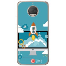 Funda Gel Tpu para Motorola Moto G5S Plus Diseño Cohete Dibujos