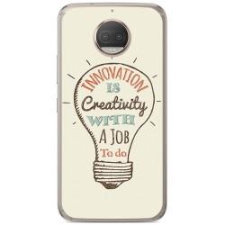 Funda Gel Tpu para Motorola Moto G5S Plus Diseño Creativity Dibujos