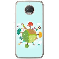Funda Gel Tpu para Motorola Moto G5S Plus Diseño Familia Dibujos