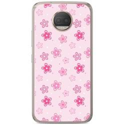 Funda Gel Tpu para Motorola Moto G5S Plus Diseño Flores Dibujos