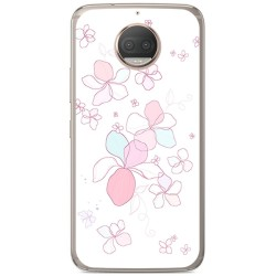 Funda Gel Tpu para Motorola Moto G5S Plus Diseño Flores Minimal Dibujos