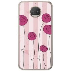 Funda Gel Tpu para Motorola Moto G5S Plus Diseño Flores Vintage Dibujos