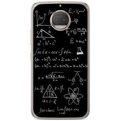 Funda Gel Tpu para Motorola Moto G5S Plus Diseño Formulas Dibujos