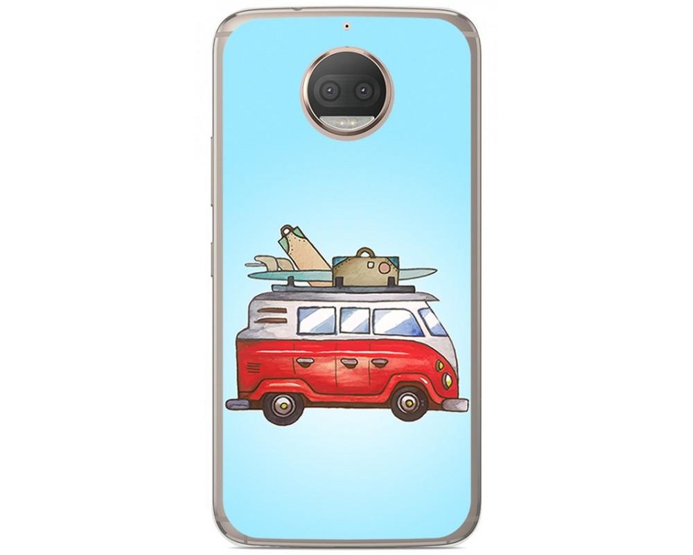 Funda Gel Tpu para Motorola Moto G5S Plus Diseño Furgoneta Dibujos