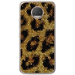 Funda Gel Tpu para Motorola Moto G5S Plus Diseño Leopardo Dibujos
