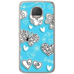 Funda Gel Tpu para Motorola Moto G5S Plus Diseño Mariposas Dibujos