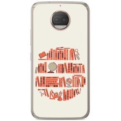 Funda Gel Tpu para Motorola Moto G5S Plus Diseño Mundo Libro Dibujos