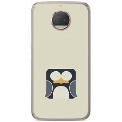 Funda Gel Tpu para Motorola Moto G5S Plus Diseño Pingüino Dibujos