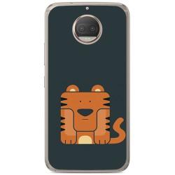 Funda Gel Tpu para Motorola Moto G5S Plus Diseño Tigre Dibujos