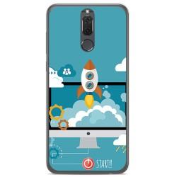 Funda Gel Tpu para Huawei Mate 10 Lite Diseño Cohete Dibujos
