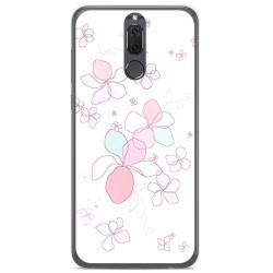 Funda Gel Tpu para Huawei Mate 10 Lite Diseño Flores Minimal Dibujos
