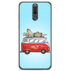 Funda Gel Tpu para Huawei Mate 10 Lite Diseño Furgoneta Dibujos
