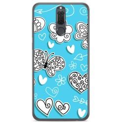 Funda Gel Tpu para Huawei Mate 10 Lite Diseño Mariposas Dibujos