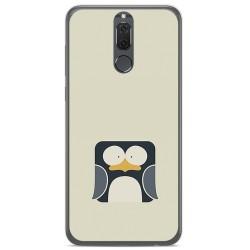 Funda Gel Tpu para Huawei Mate 10 Lite Diseño Pingüino Dibujos