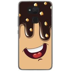 Funda Gel Tpu para Bq Aquaris V / Vs Diseño Helado Chocolate Dibujos