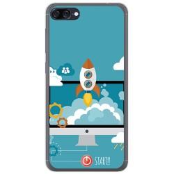 Funda Gel Tpu para Asus Zenfone 4 Max Zc520Kl Diseño Cohete Dibujos
