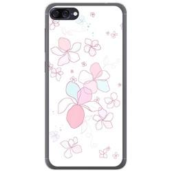 Funda Gel Tpu para Asus Zenfone 4 Max Zc520Kl Diseño Flores Minimal Dibujos