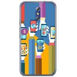 Funda Gel Tpu para Doogee Bl5000 Diseño Apps Dibujos