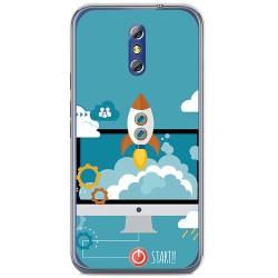 Funda Gel Tpu para Doogee Bl5000 Diseño Cohete Dibujos