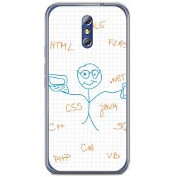 Funda Gel Tpu para Doogee Bl5000 Diseño Informatico Dibujos
