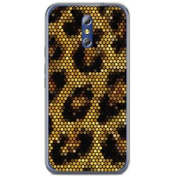 Funda Gel Tpu para Doogee Bl5000 Diseño Leopardo Dibujos