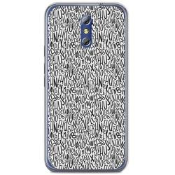 Funda Gel Tpu para Doogee Bl5000 Diseño Letras Dibujos