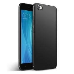 Funda Gel Tpu Tipo Mate Negra para Xiaomi Redmi Note 5A