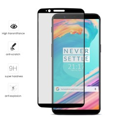 Protector Cristal Templado Frontal Completo Negro para Oneplus 5T Vidrio