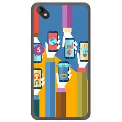 Funda Gel Tpu para Wiko Sunny 2 Plus Diseño Apps Dibujos