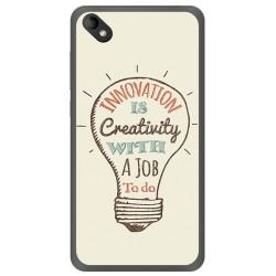 Funda Gel Tpu para Wiko Sunny 2 Plus Diseño Creativity Dibujos