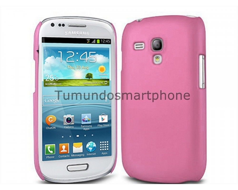 Carcasa Funda Dura Samsung Galaxy S3 Mini I8190 Color Rosa