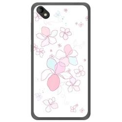 Funda Gel Tpu para Wiko Sunny 2 Plus Diseño Flores Minimal Dibujos