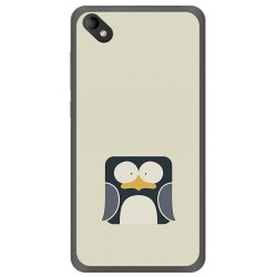Funda Gel Tpu para Wiko Sunny 2 Plus Diseño Pingüino Dibujos