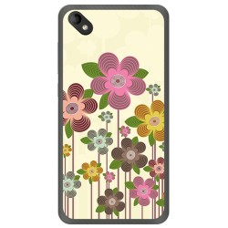 Funda Gel Tpu para Wiko Sunny 2 Plus Diseño Primavera En Flor Dibujos
