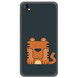 Funda Gel Tpu para Wiko Sunny 2 Plus Diseño Tigre Dibujos